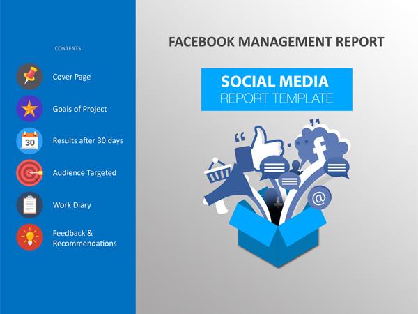 social media report template 246 designs